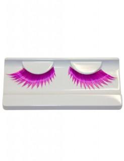 Wimpern gezackt pink-lila