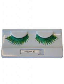 Wimpern schwarz-blau-grün