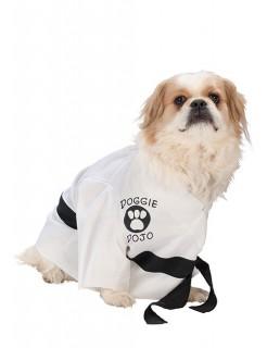 Karate Kostüm für Hunde Hundekostüm weiss-schwarz