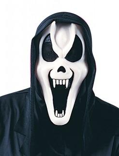 Halloween Geister Maske Scream Dämon schwarz-weiss