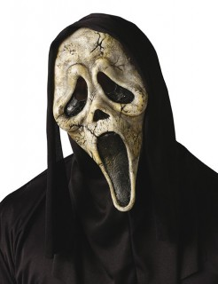 Halloween Geister Zombie Maske Scream beige-schwarz