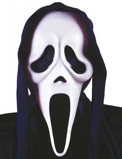 Ghost Face™ Geister Maske Scream™ Lizenzware für Erwachsene schwarz-weiss