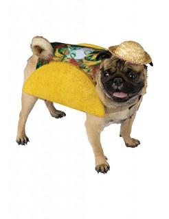 Taco Kostüm für Hunde gelb-bunt
