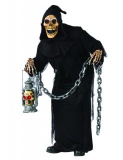 Halloween Zombie Ghoul Skelett Kostüm schwarz