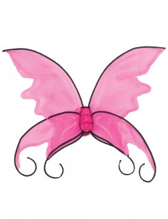 Fantasy Feen Flügel pink-schwarz