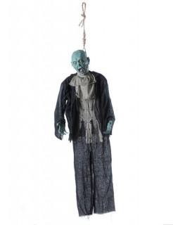 Erhängter Leichnam Halloween Hänge-Deko schwarz-grau-blau 153cm
