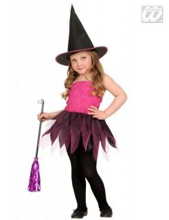 Bildhübsche Hexe Kinder-Kostüm schwarz-pink-lila