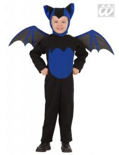 Fledermaus mit Flügeln Kinder-Kostüm schwarz-blau