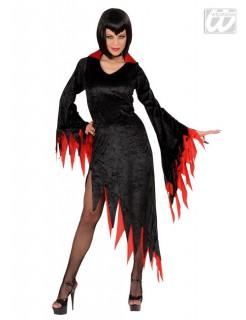 Gothic Hexe Halloween Damenkostüm schwarz-rot