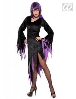 Gothic Hexe Halloween Damenkostüm schwarz-lila
