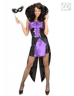 Gothic Vampir-Königin Damenkostüm schwarz-lila
