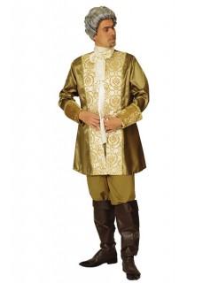 Barock Prinz-Kostüm gold-weiss