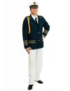 Kapitän Kostüm Uniform blau-weiss