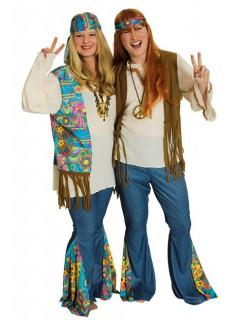 60er-Jahre-Outfit Hippie-Damenkostüm bunt