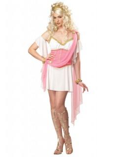 Griechische Göttin Damenkostüm weiss-rosa