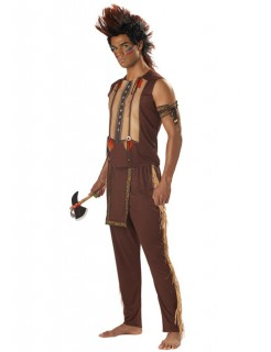 Indianer-Häuptling Kostüm braun