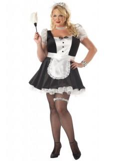 Sexy Französisches Hausmädchen Damen-Kostüm schwarz-weiss