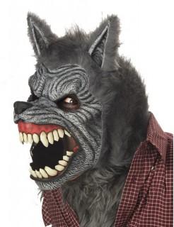 Ani-Motion Werwolf-Maske Kostümzubehör grau