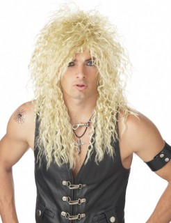 80er Rockstar-Perücke blond