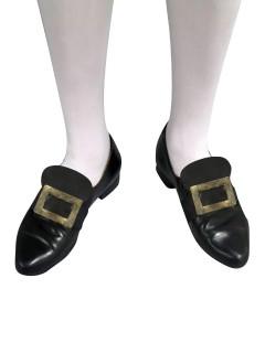 Barocke Schuhschnalle schwarz-gold