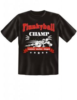 T-Shirt Flunkyball Champ Funshirt schwarz