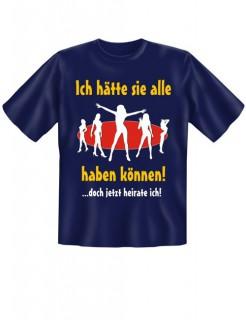 JGA T-Shirt Ich hätte sie alle haben können dunkelblau-gelb-weiss