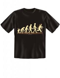 Evolution Feuerwehr T-Shirt schwarz-beige-braun