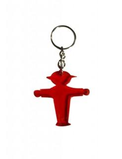 Ampelmännchen-Schlüsselanhänger Geschenkidee rot 5x5cm