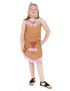 Indianerin Kinder-Kostüm braun-rosa