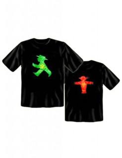 T-Shirt Ampelmännchen schwarz-rot-grün