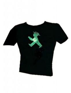 Ampelmännchen-Damen-T-Shirt schwarz-grün