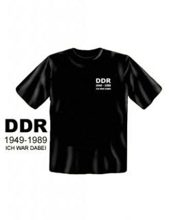 DDR Ich war dabei T-Shirt schwarz-weiss