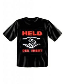 T-Shirt Held der Arbeit schwarz-weiss-rot