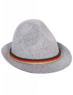 Tiroler-Hut mit Deutschland-Band grau-bunt