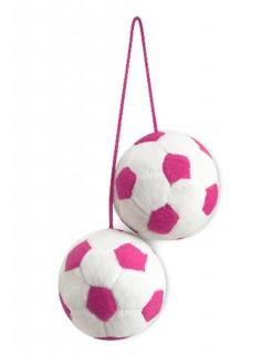 Tussi on Tour WM Auto Fußball Anhänger pink-weiss 6,5cm