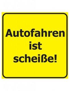 Verbotene Bierdeckel Autofahren 15 Stück gelb-schwarz 9,3x9,3cm