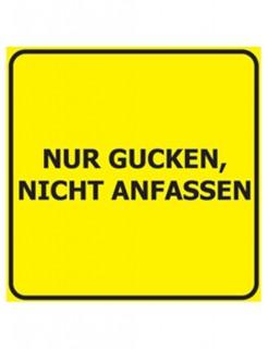 Verbotene Bierdeckel Nur Gucken 15 Stück gelb-schwarz 9,3x9,3cm