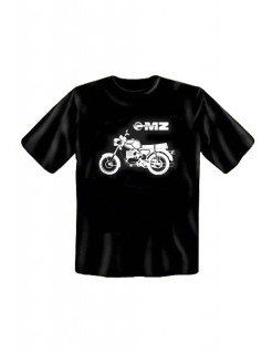 T-Shirt DDR Motorrad Ostalgie schwarz-weiss