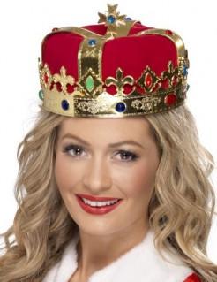 Königinnen Krone Kostüm-Zubehör gold-rot