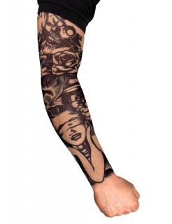 Tattoo ärmel Killer schwarz-weiss