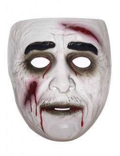 Blutender Zombie Halloween-Maske schwarz-weiss-rot