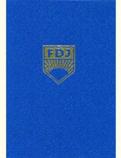 FDJ original Ausweis der DDR blau-gold