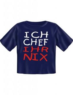 Ich Chef Ihr Nix Fun T-Shirt für Babys und Kleinkinder blau-weiss-rot