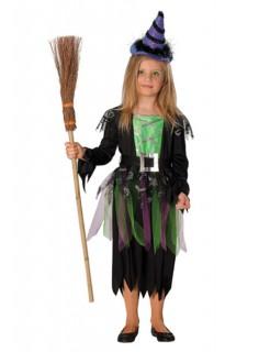Zauberhexe Kinder-Kostüm schwarz-grün