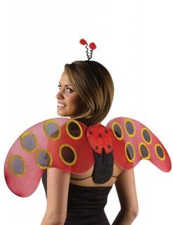 Marienkäfer Flügel mit Haarreif schwarz-rot