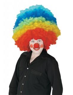Clown Karneval Perücke Riesenafro bunt