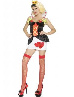 Sexy Märchenkönigin Damenkostüm schwarz-rot-weiss