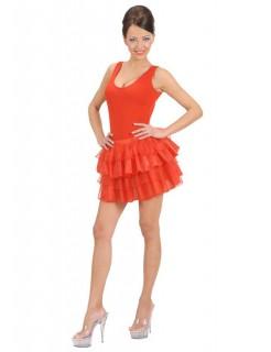 Mehrlagiger Petticoat, rot