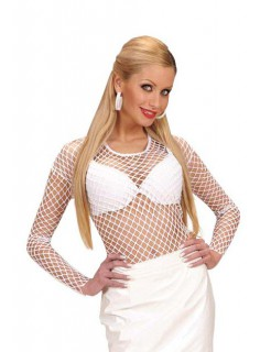 Netzoberteil Damen-Shirt weiß