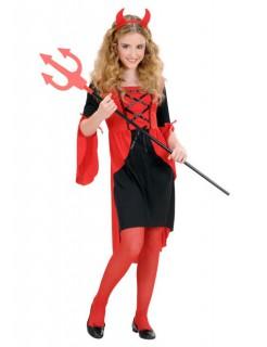 Teufelin Kinderkostüm rot-schwarz